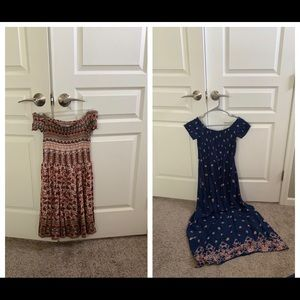 Two target off shoulder dresses